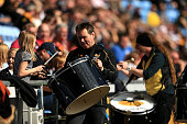 coventry england musicians entertain crowd during