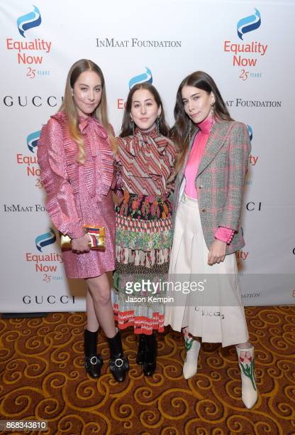 Musicians Este Haim Danielle Haim and Alana Haim of HAIM attend as Equality Now celebrates 25th Anniversary at 'Make Equality Reality' Gala at Gotham...