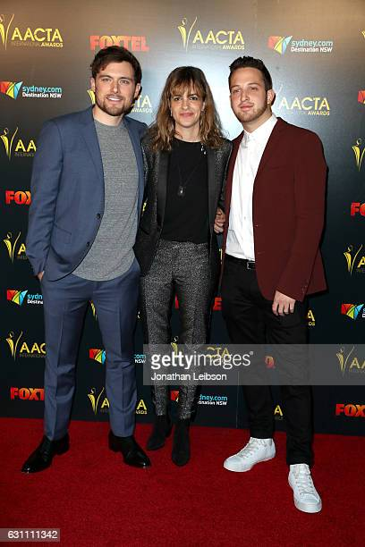 Musicians Ethan Thompson Samantha Ronson and Pete Nappi of Ocean Park Standoff attend The 6th AACTA International Awards on January 6 2017 in Los...