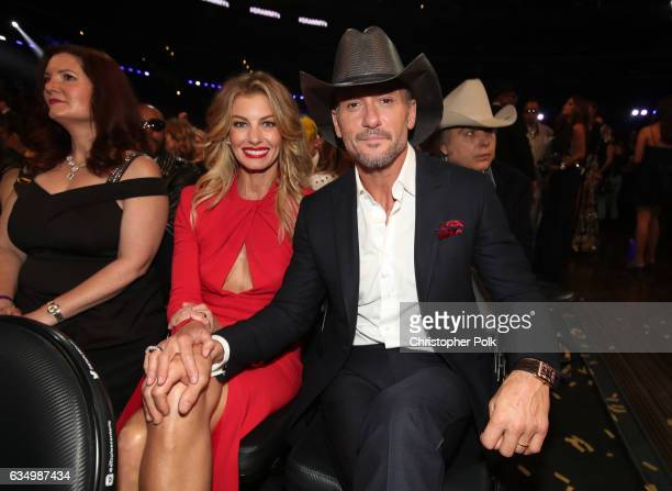 Musicians Faith Hill and Tim McGraw during The 59th GRAMMY Awards at STAPLES Center on February 12 2017 in Los Angeles California