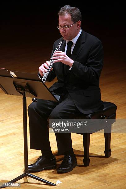 Musicians from Marlboro performing at the Metropolitan Museum on Friday night, March 21, 2008.This image;Rudolph Vrbsky performing Elliott Carter's...