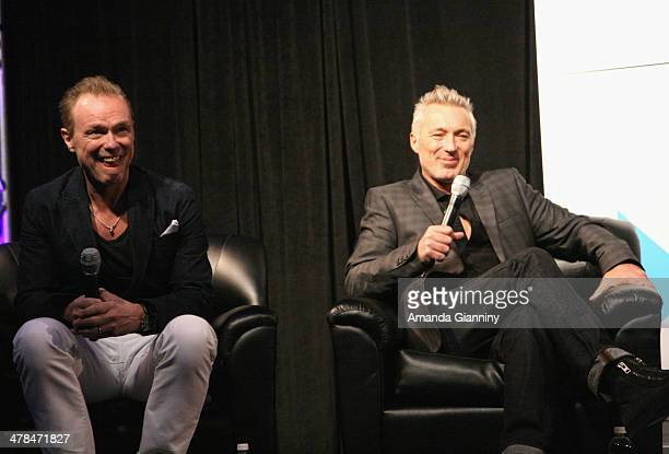 Musicians Gary Kemp and Martin Kemp of Spandau Ballet speak onstage at SXSW Interview Spandau Ballet during the 2014 SXSW Music Film Interactive at...