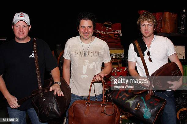 Musicians Gary LeVox Jay DeMarcus and Joe Don Rooney of Rascal Flatts attend the Backstage Creations celebrity retreat held during the 43rd Academy...