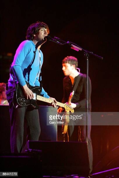 Musicians Gary Lightbody and Nathan Connolly of Snow Patrol performs in concert at the AT&T Center June 10, 2009 in San Antonio, Texas.