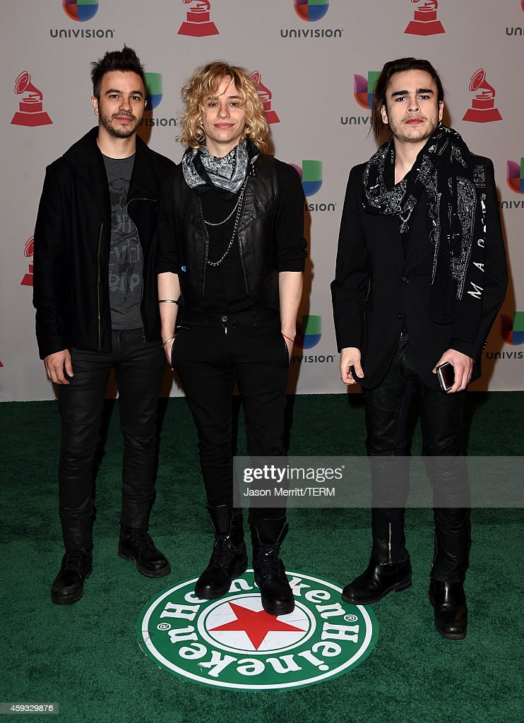 Musicians GastonSardelli, Guido Sardelli and Patricio Sardelli of Airbag attend the 15th Annual Latin GRAMMY Awards at the MGM Grand Garden Arena on November 20, 2014 in Las Vegas, Nevada.