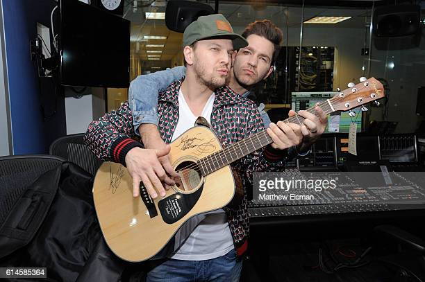 Musicians Gavin DeGraw and Andy Grammer visit SiriusXM's Hits 1 'Morning Mash Up' at SiriusXM Studio on October 14 2016 in New York City