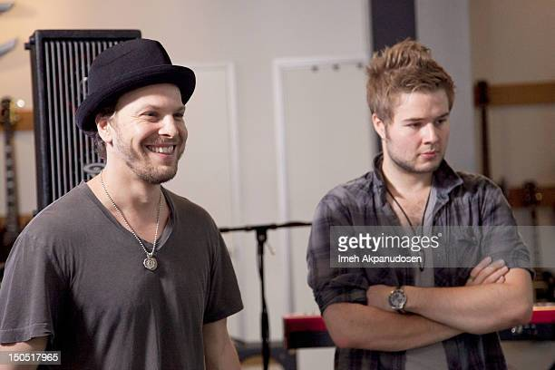 Musicians Gavin DeGraw and Billy Norris attend Microsoft's Shape The Future Program To Benefit VH1 Save The Music at Gibson Guitar Entertainment...
