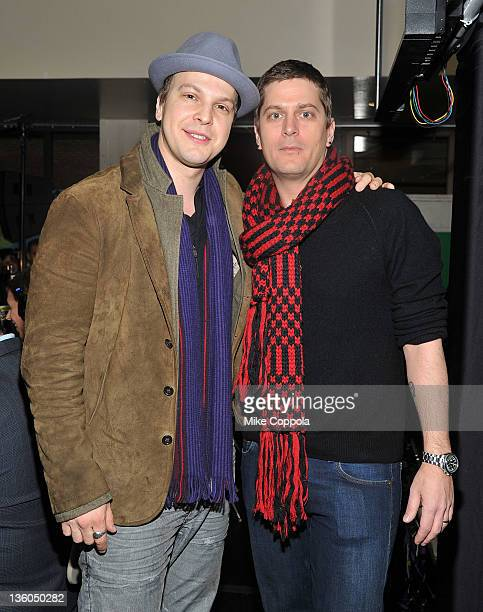 Musicians Gavin DeGraw and Rob Thomas attend 'PLJ's 20th Annual Scott & Todd's Live broadcast/auction at Blythedale Children's Hospital on December...