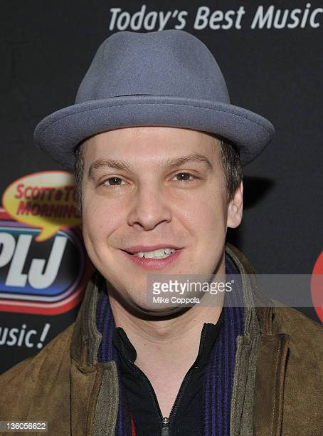 Musicians Gavin DeGraw attends 'PLJ's 20th Annual Scott Todd's Live broadcast/auction at Blythedale Children's Hospital on December 21 2011 in New...