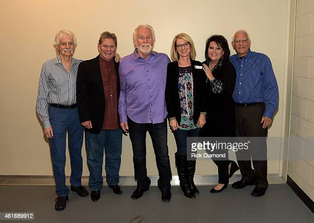 Musicians Gene Lorenzo Terry Williams and Kenny Rogers Kay Clary of the Country Music Hall of Fame and Museum and musicians Mary Arnold Miller and...