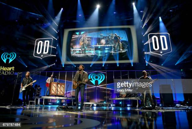 Musicians Geoff Sprung Brad Tursi Matthew Ramsey and Trevor Rosen of Old Dominion perform onstage during the 2017 iHeartCountry Festival A Music...