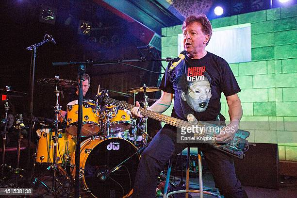 Musicians Gerald Casale performs on stage with Devo at Belly Up Tavern on June 30 2014 in Solana Beach California