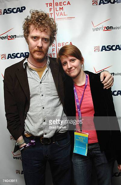 Musicians Glen Hansard and Marketa Irglova pose at the ASCAP Tribeca Music Lounge held at the Canal Room during the 2007 Tribeca Film Festival on May...