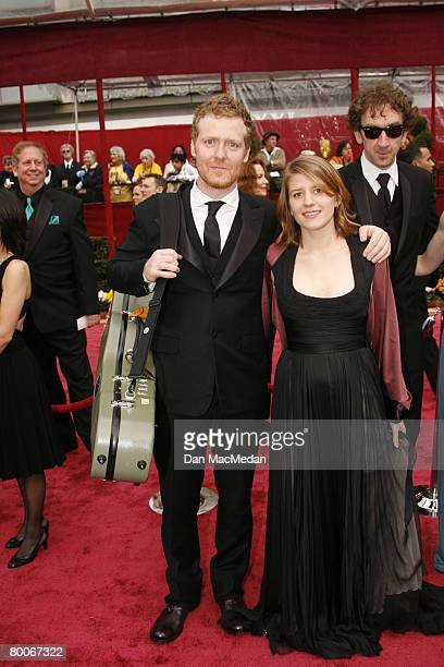 Musicians Glen Hansard and Markets Irglova arrive on the red carpet for The 80th Annual Academy Awards held at the Kodak Theater on February 24 2008...