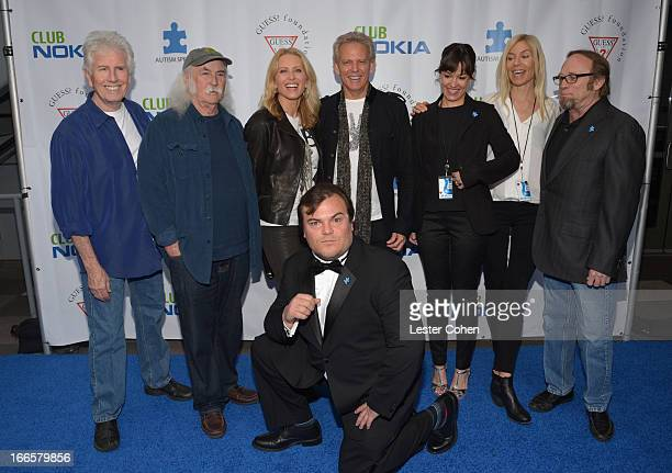 Musicians Graham Nash and David Crosby Kathrin Nicholson and musician Don Felder Tanya Haden Kristin Stills and musician Stephen Stills with actor...