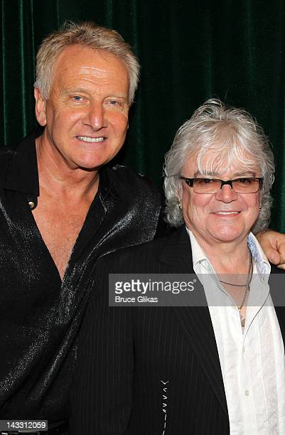 Musicians Graham Russell and Russell Hitchcock of Air Supply pose at The Air Supply Musical Lost In Love workshop at Ripley Grier Rehearsal Studio on...
