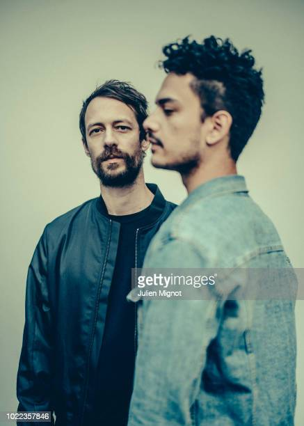 Musicians Guillaume Alric & Jonathan Alric, a.k.a The Blaze is photographed for The NY Times on May 2018 in Paris, France.