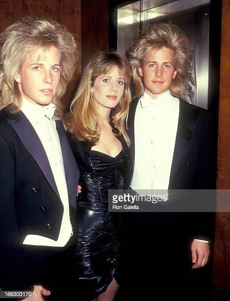 Musicians Gunnar Nelson and Matthew Nelson and Actress Tracy Nelson attend the Second Annual Rock and Roll Hall of Fame Induction Ceremony on January...