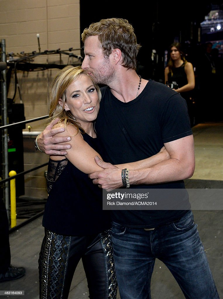 Musicians Gwen Sebastian (L) and Dierks Bentley attend the 49th Annual Academy of Country Music Awards at the MGM Grand Garden Arena on April 6, 2014 in Las Vegas, Nevada.