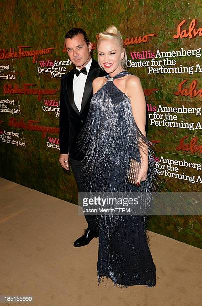 Musicians Gwen Stefani wearing Ferragamo and Gavin Rossdale arrive at the Wallis Annenberg Center for the Performing Arts Inaugural Gala presented by...