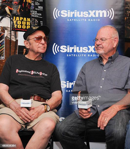 Musicians Hal Blaine and Chuck Berghofer attend SiriusXM's 'Town Hall' With Hal Blaine Don Randi Chuck Berghofer And Denny Tedesco at The Baked...