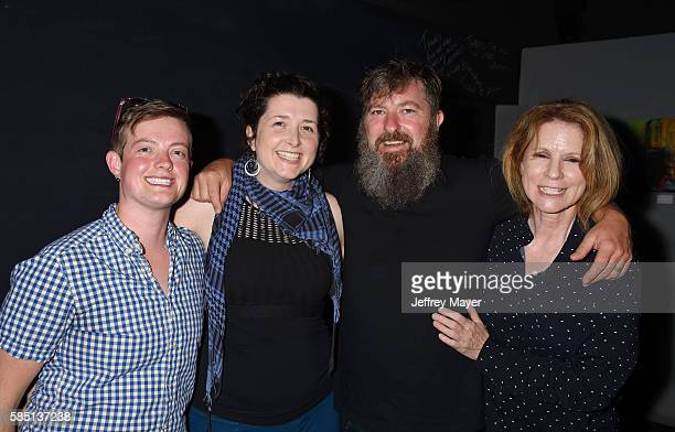 Musicians Harlow Carpenter Briget Boyle Tim Young and Kathy Black attend the Tim Young The Questionaires' Record Release Party at The Blue Whale Jazz...