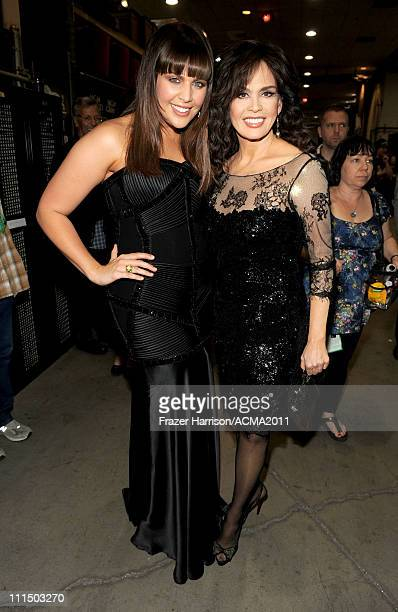 Musicians Hillary Scott and Marie Osmond backstage at the 46th Annual Academy Of Country Music Awards held at the MGM Grand Garden Arena on April 3...