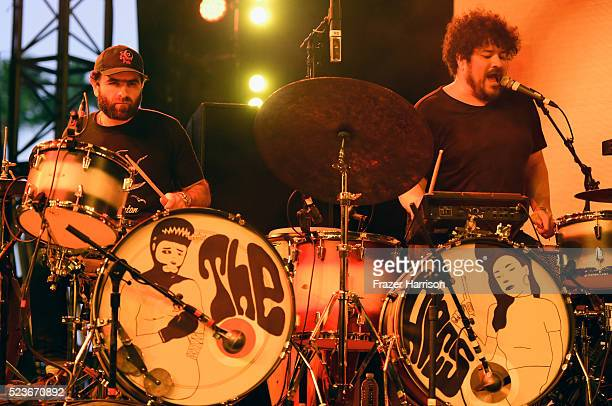Musicians Homer Steinweiss and Richard Swift of the Arcs perform onstage during day 2 of the 2016 Coachella Valley Music Arts Festival Weekend 2 at...