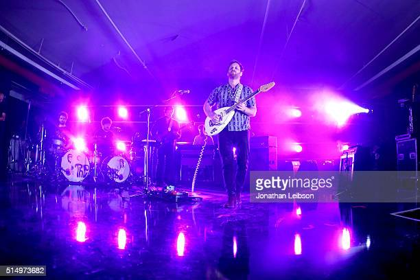 Musicians Homer Steinweiss Richard Swift Nick Movshon Leon Michels and Dan Auerbach of The Arcs perfom onstage at Samsung Galaxy Life Fest at SXSW...