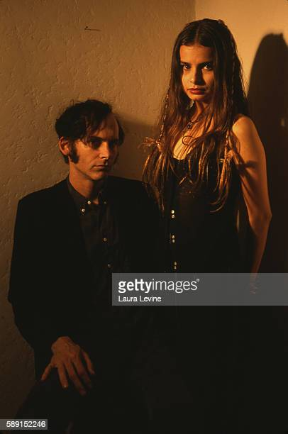 Musicians Hope Sandoval and David Roback of the group Mazzy Star.