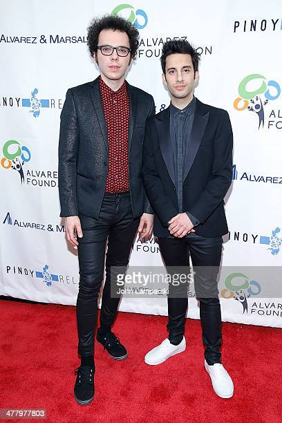 Musicians Ian Axel and Chad Vaccarino of the egroup Great Big World attend the Pinoy Relief Benefit concert at Madison Square Garden on March 11,...