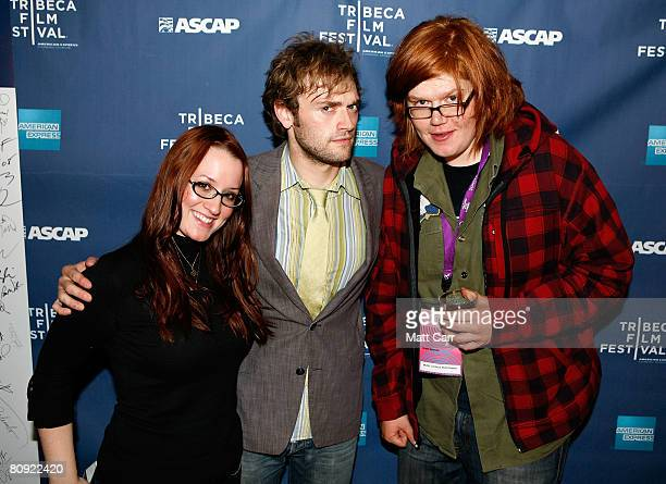Musicians Ingrid Michaelson Chris Thile and Brett Dennen pose during the Tribeca ASCAP Music Lounge at the 2008 Tribeca Film Festival on April 29...