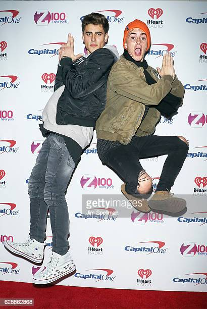 Musicians Jack Gilinsky and Jack Johnson of Jack and Jack attend Z100's Jingle Ball 2016 at Madison Square Garden on December 9 2016 in New York City