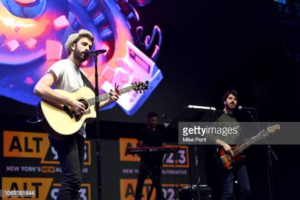 Musicians Jack Met and Adam Met of AJR perform onstage at Not So Silent Night presented by Radiocom at Barclays Center on December 6 2018 in New York...