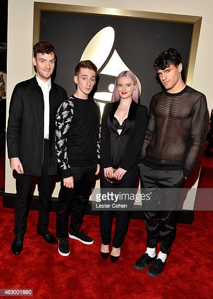 Musicians Jack Patterson Luke Patterson Grace Chatto and Milan Neil AminSmith attend The 57th Annual GRAMMY Awards at the STAPLES Center on February...