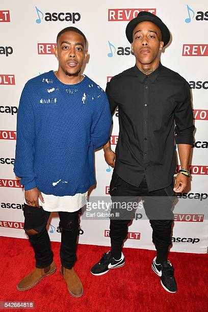 Musicians Jake Harrell and Papa Harrell of JakePapa attend the 2016 ASCAP Rhythm Soul Awards at the Beverly Wilshire Four Seasons Hotel on June 23...