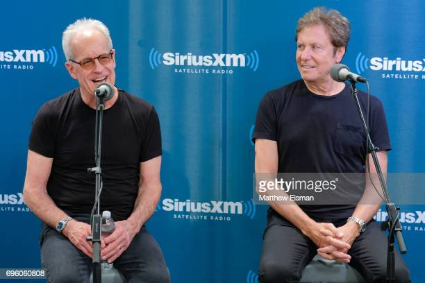 Musicians James Pankow and Robert Lamm of the band Chicago attend a SiriusXM 'Town Hall' event at SiriusXM Studios on June 14 2017 in New York City