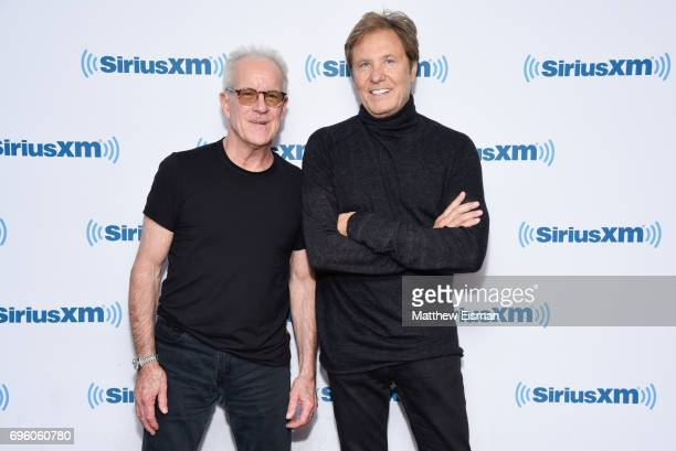 Musicians James Pankow and Robert Lamm of the band Chicago visit SiriusXM Studios on June 14 2017 in New York City