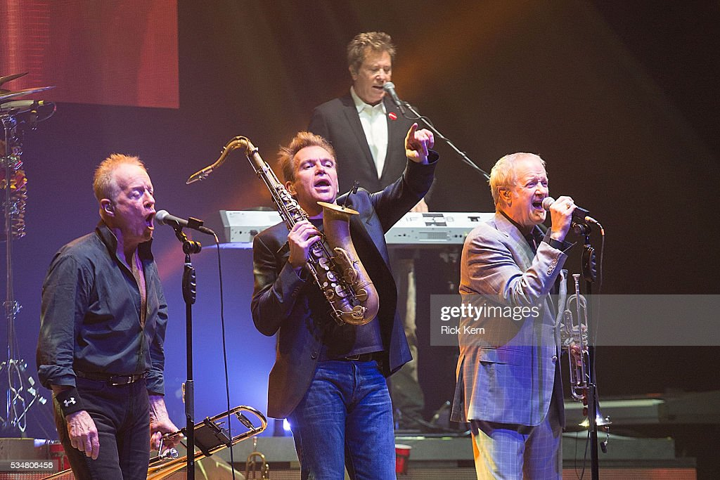 Musicians James Pankow, Walt Parazaider, Robert Lamm, and Lee Loughnane of Chicago perform in concert at ACL Live on May 27, 2016 in Austin, Texas.