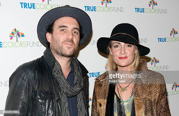 "Musicians James Shaw and Emily Haines attend the 4th Annual ""Home For The Holidays"" Benefit Concert at Beacon Theatre on December 6, 2014 in New York..."