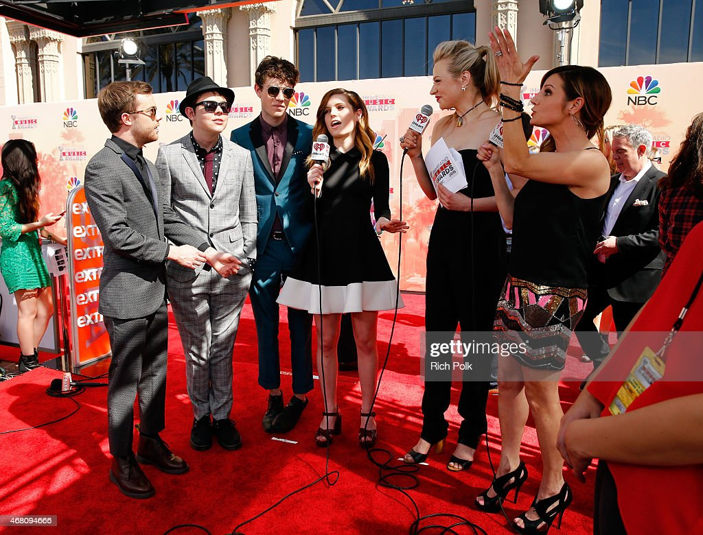 Musicians Jamie Sierota, Graham Sierota, Noah Sierota and Sydney Sierota of Echosmith attend the 2015 iHeartRadio Music Awards which broadcasted live on NBC from The Shrine Auditorium on March 29, 2015 in Los Angeles, California.
