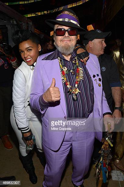 Musicians Janelle Monae and Dr. John attend the 63rd NBA All-Star Game 2014 at the Smoothie King Center on February 16, 2014 in New Orleans,...