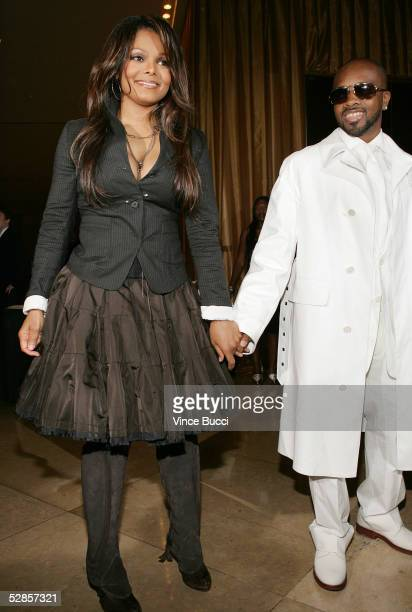 Musicians Janet Jackson and boyfriend Jermaine Dupri attend the 22nd Annual ASCAP Pop Music Awards Gala on May 16 2005 at the Beverly Hilton in...