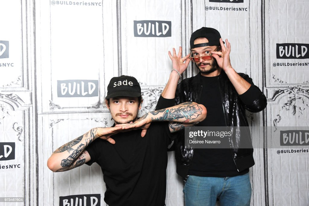 Musicians Jason Huber and Jordan Kelley of Cherub visit Build Series to discuss 'All In' at Build Studio on June 13, 2018 in New York City.