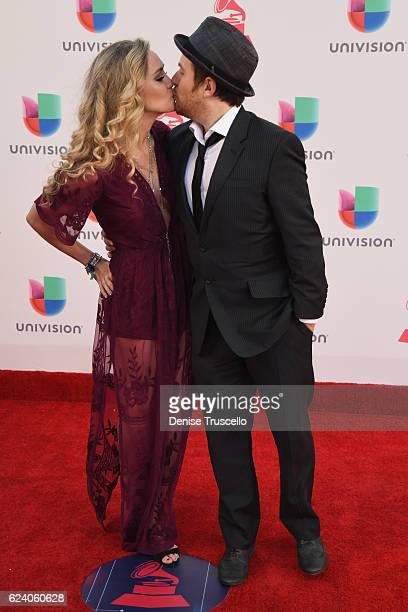 Musicians Jason Reeves and Nelly Joy of High Dive Heart attend The 17th Annual Latin Grammy Awards at TMobile Arena on November 17 2016 in Las Vegas...