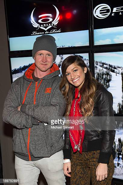 Musicians Jason Rosen and Gabrielle Wortman attend Oakley Learn To Ride In Collaboration With New Era on January 19, 2013 in Park City, Utah.