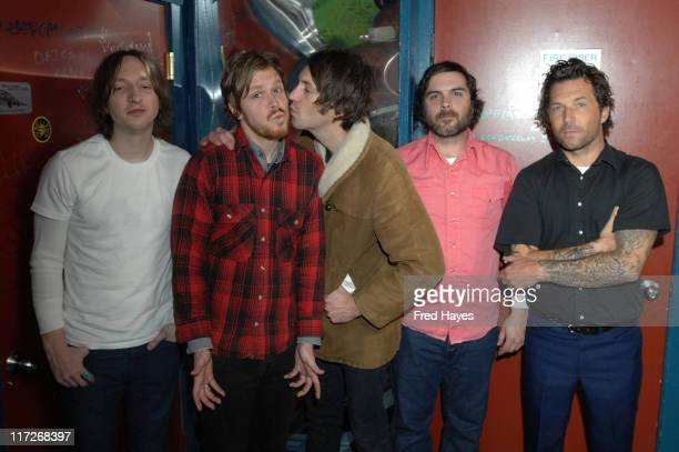 Musicians Jason Soda Joel Graves Russell Pollard Rob Douglas and Davey Latter attend the Music Cafe during the 2008 Sundance Film Festival on January...