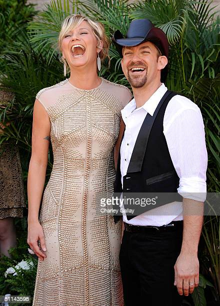 Musicians Jennifer Nettles and Kristian Bush of Sugarland arrive at the 43rd annual Academy Of Country Music Awards held at the MGM Grand Garden...