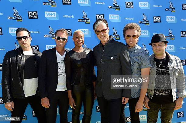 Musicians Jeremy Ruzumna John Wicks Noelle Scaggs Michael Fitzpatrick Joseph Karnes and James King of Fitz and The Tantrums arrive at the...