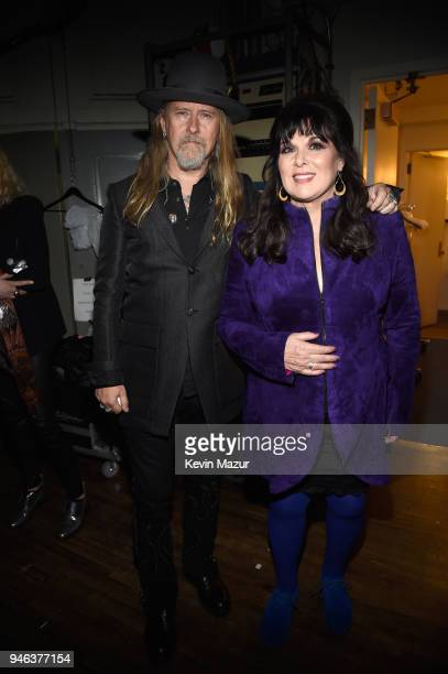 Musicians Jerry Cantrell and Ann Wilson attend the 33rd Annual Rock Roll Hall of Fame Induction Ceremony at Public Auditorium on April 14 2018 in...